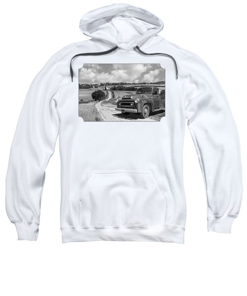 Down On The Farm- International Harvester In Black And White Sweatshirt