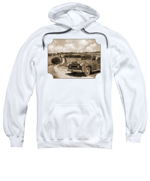 Down On The Fram - International Harvester In Sepia Sweatshirt