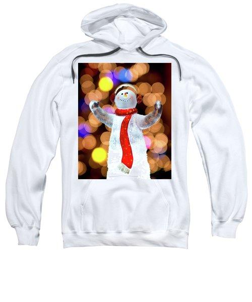 Worshiping Snowman Sweatshirt