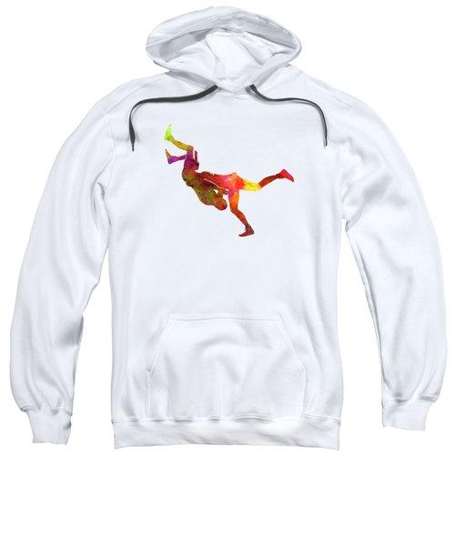 Wrestlers Wrestling Men 02 In Watercolor Sweatshirt