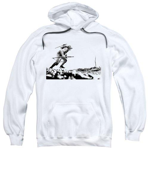 Wwii Marine Crosses Death Valley Okinawa Sweatshirt
