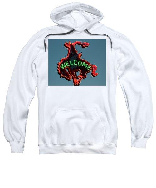 Wyoming Cowboy Vintage Neon Sign Sweatshirt