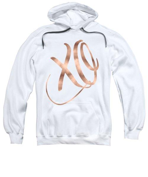 Xo, Rose Gold Sweatshirt