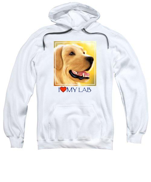 Yellow Lab Portrait Sweatshirt