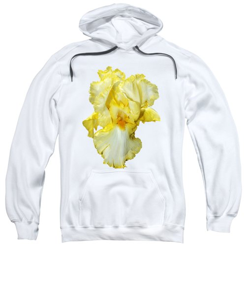 Yellow Mist Iris Sweatshirt by Phyllis Denton