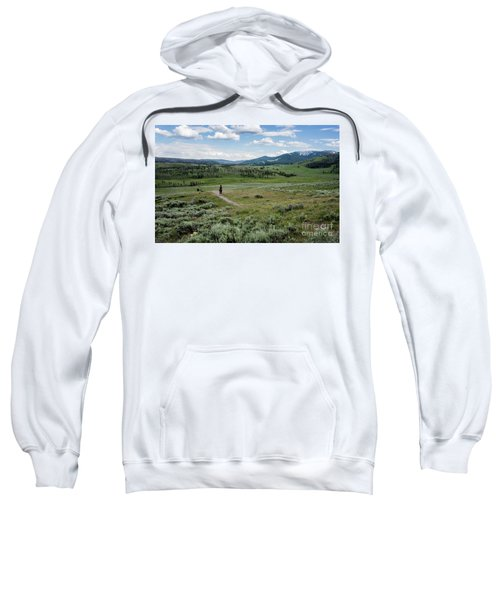 Sweatshirt featuring the photograph Yellow Stone Mountains by Mae Wertz