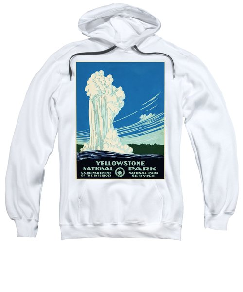 Yellow Stone Park - Vintage Travel Poster Sweatshirt