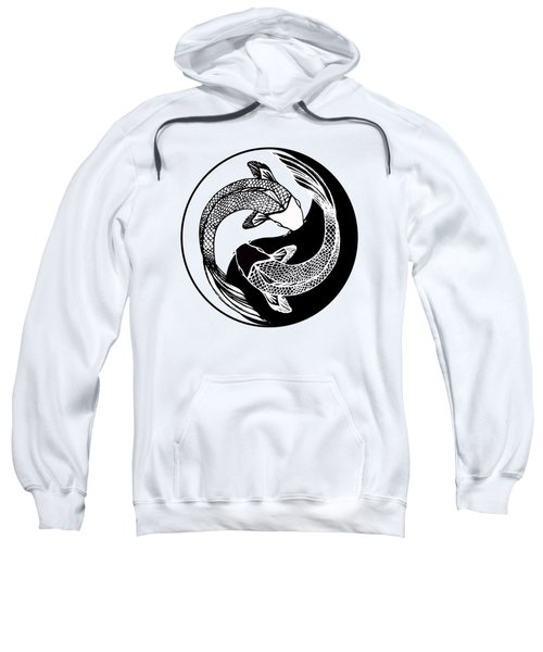 Yin Yang Fish Sweatshirt by Stephen Humphries