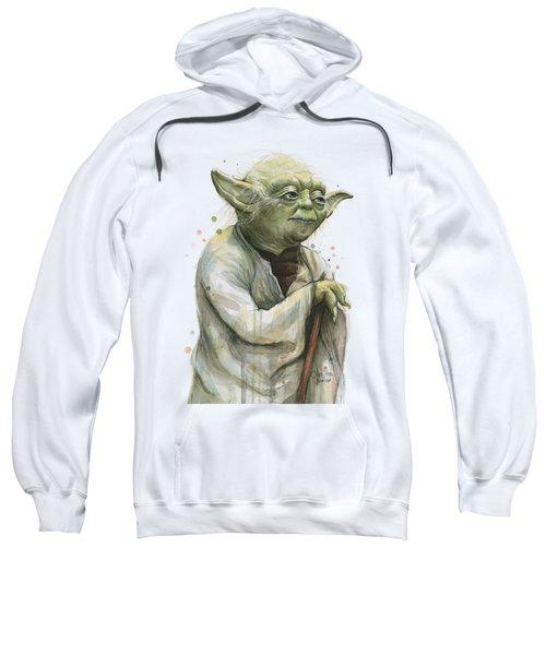 Yoda Watercolor Sweatshirt by Olga Shvartsur