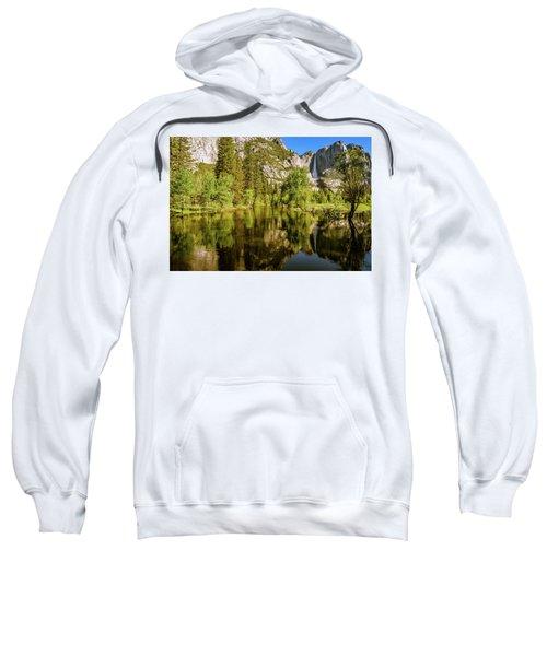 Yosemite Reflections On The Merced River Sweatshirt