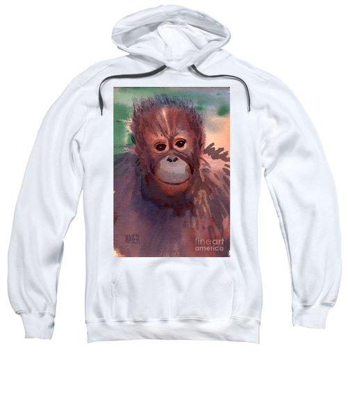 Young Orangutan Sweatshirt by Donald Maier