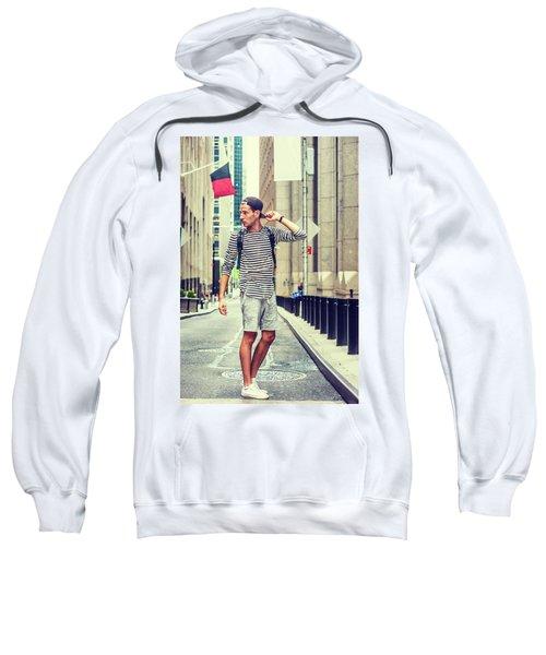 Young Russian Man Traveling In New York Sweatshirt