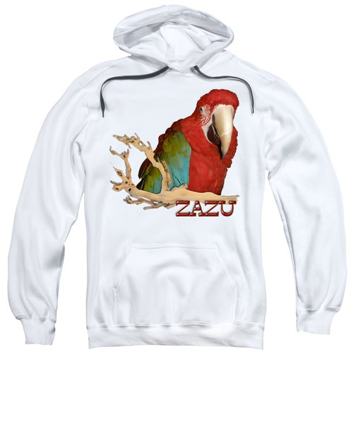 Zazu With Branch Sweatshirt by Zazu's House Parrot Sanctuary
