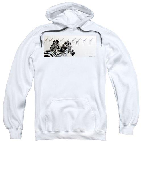 Zebra And Giraffe Sweatshirt