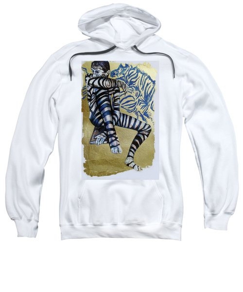 Zebra Boy The Lost Gold Drawing  Sweatshirt