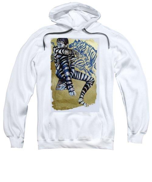Zebra Boy The Lost Gold Drawing  Sweatshirt