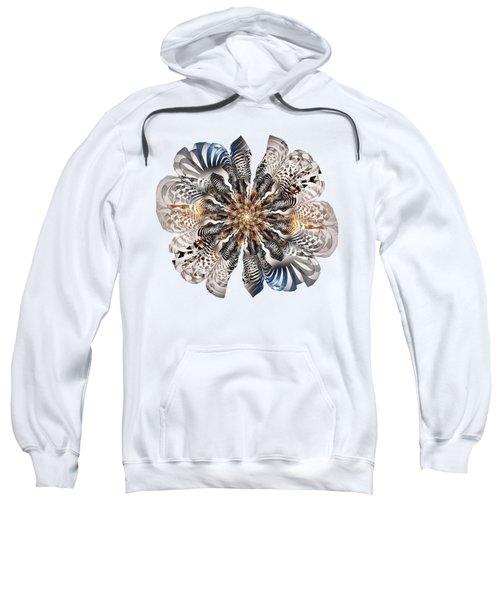 Zebra Flower Sweatshirt by Anastasiya Malakhova