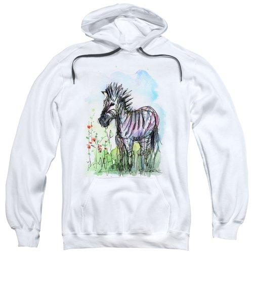 Zebra Painting Watercolor Sketch Sweatshirt