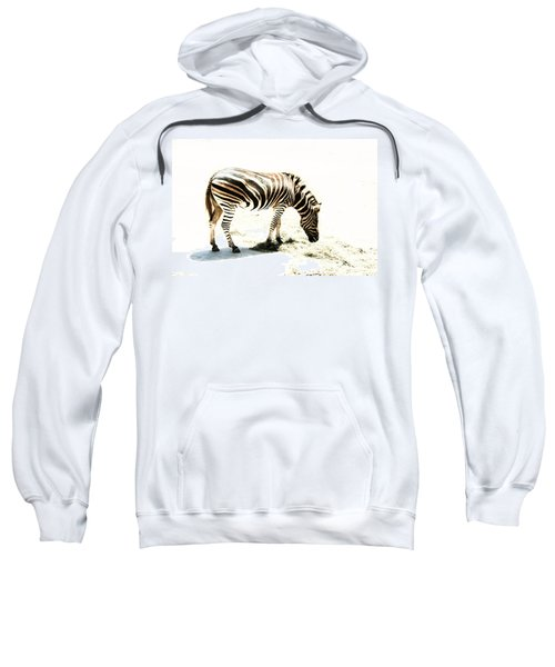 Sweatshirt featuring the photograph Zebra Stripes by Stephen Mitchell