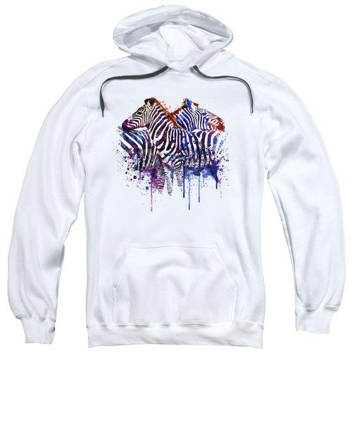 Zebras In Love Sweatshirt by Marian Voicu