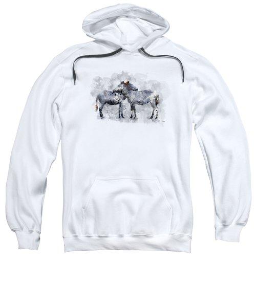 Zebras Sweatshirt by Marlene Watson