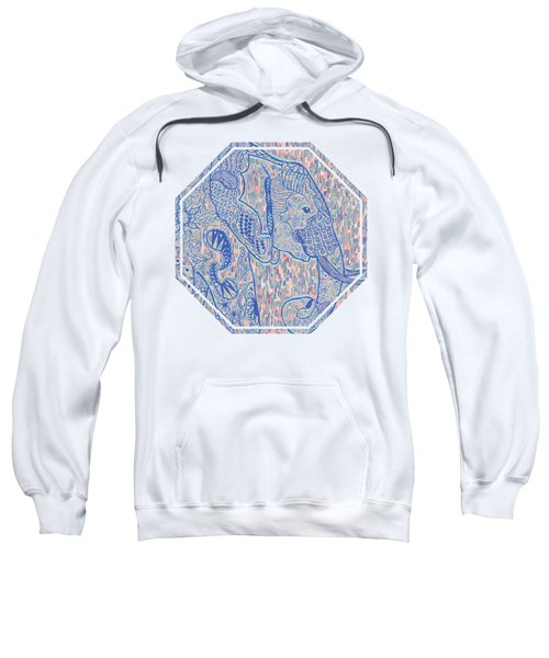 Zentangle Elephant-oil Sweatshirt