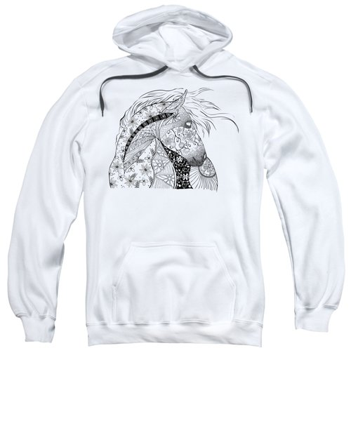 Zentangled Horse Sweatshirt