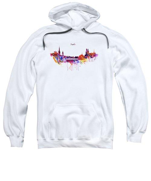 Zurich Skyline Sweatshirt by Marian Voicu
