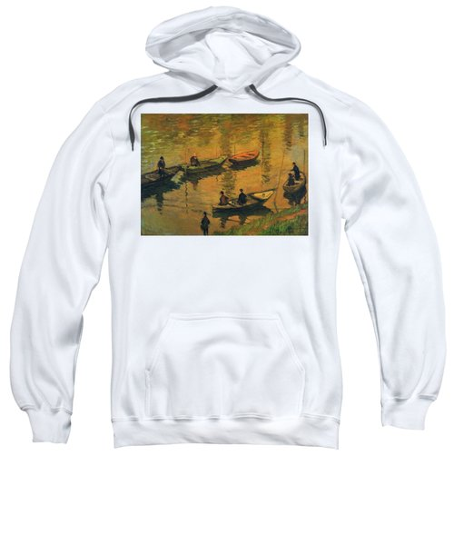 Anglers On The Seine At Poissy, 1882 Sweatshirt