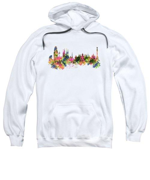 Barcelona Watercolor Skyline Sweatshirt