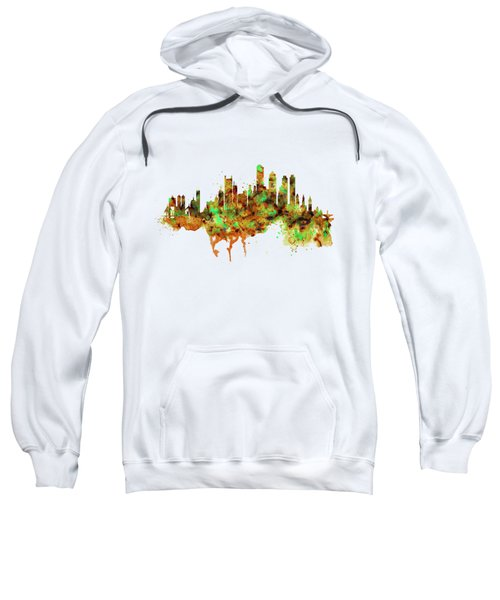 Boston Watercolor Skyline Sweatshirt