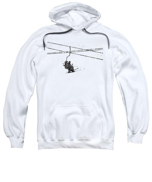 Couple On Ski Lift Sweatshirt