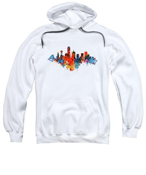 Dallas Watercolor Skyline  Sweatshirt