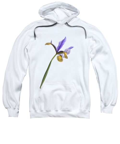 Iris On A Transparent Background Sweatshirt