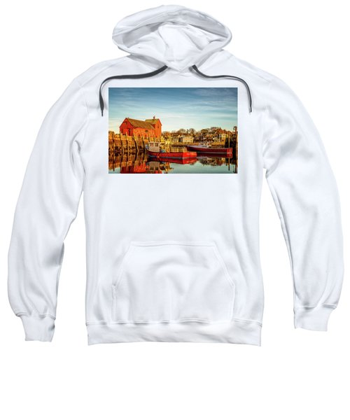 Low Tide And Lobster Boats At Motif #1 Sweatshirt