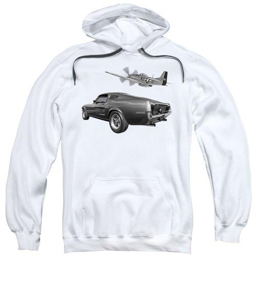 p51 With Bullitt Mustang Sweatshirt