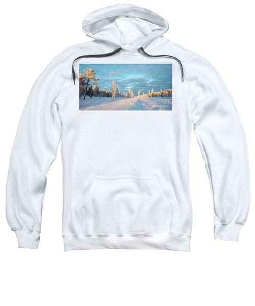 Snowy Winter Landscape Sweatshirt