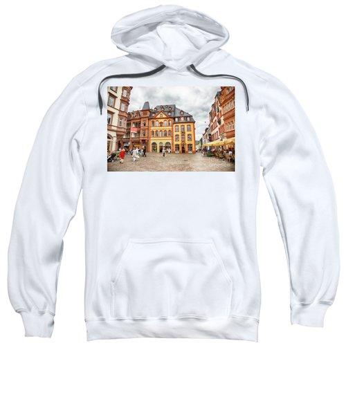 Trier, Germany,  People By Market Day Sweatshirt