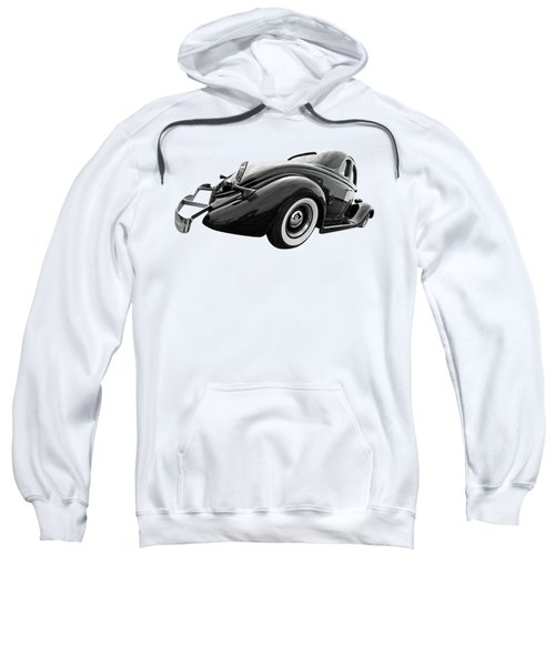 1935 Ford Coupe In Black And White Sweatshirt