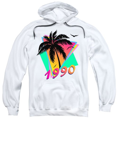 1990 Cool Tropical Sunset Sweatshirt