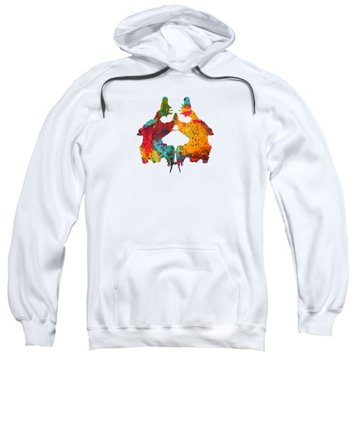 Rorschach Inkblot Test,card 2 Sweatshirt