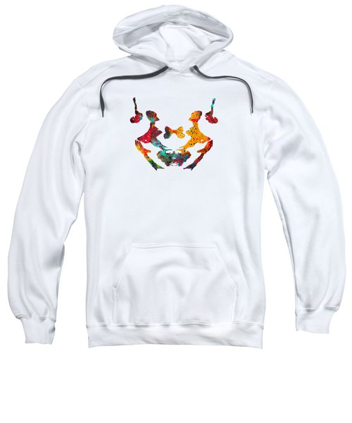 Rorschach Inkblot Test,card 3 Sweatshirt