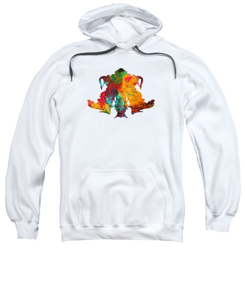 Rorschach Inkblot Test,card 4 Sweatshirt