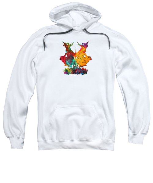 Rorschach Inkblot Test,card 9 Sweatshirt