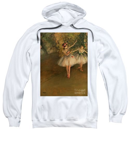 Two Dancers On A Stage Sweatshirt