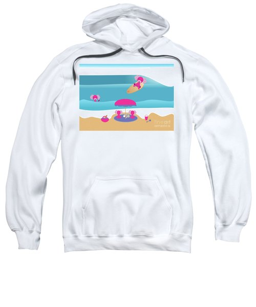 A Dog Family Surf Day Out Sweatshirt