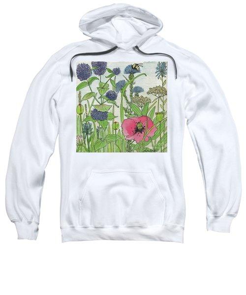 A Single Poppy Wildflowers Garden Flowers Sweatshirt