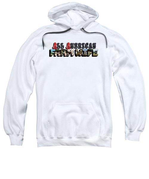 All American Farm Wife Big Letter Sweatshirt