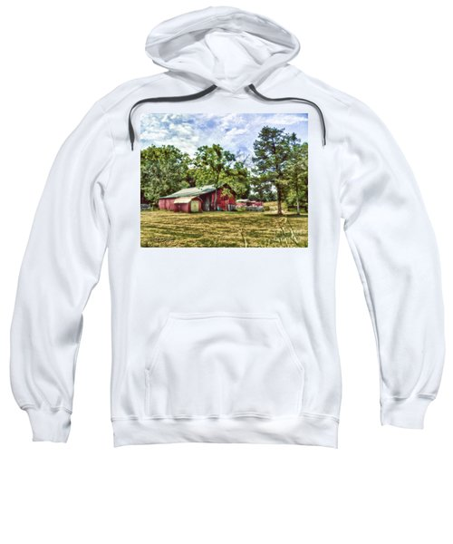 Along The Rural Road Old Barn In Tennessee Sweatshirt
