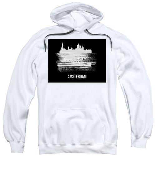 Amsterdam Skyline Brush Stroke White Sweatshirt